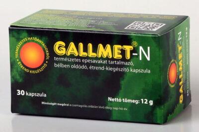 GALLMET-N/30 db természetes epesavakat tartalmazó, bélben oldódó étrend-kiegészítő kapszula