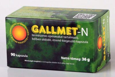 GALLMET-N/90 db természetes epesavakat tartalmazó, bélben oldódó étrend-kiegészítő kapszula