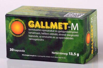 GALLMET-M/30 db természetes epesavakat és gyógynövényeket tartalmazó, bélben oldódó étrend-kiegészítő kapszula, az emésztés és az epeműködés támogatására